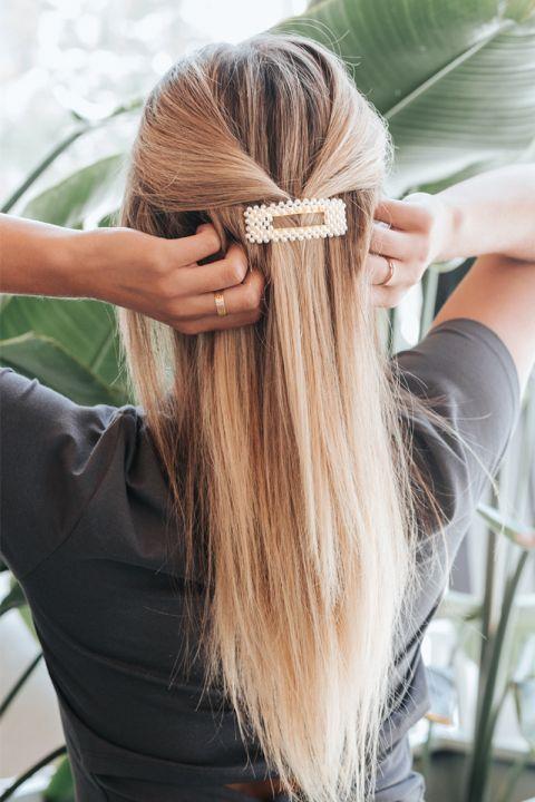 Pearl Rectangle Hair Pin