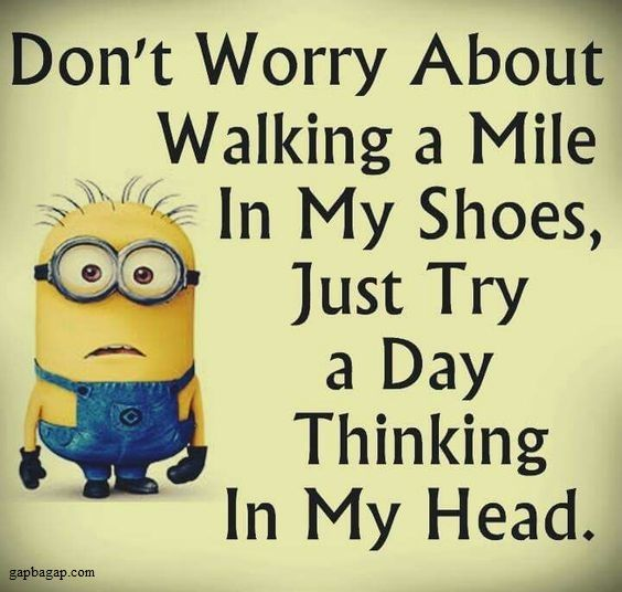Funny Minions Jokes About Shoes vs. Head
