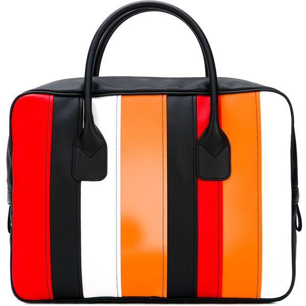 Comme Des Garçons Comme Des - striped tote bag - women - PVC - One... ($345) ❤ liked on Polyvore featuring bags, handbags, tote bags, black, handbags totes, stripe tote bag, striped tote handbags, striped handbags and stripe purse