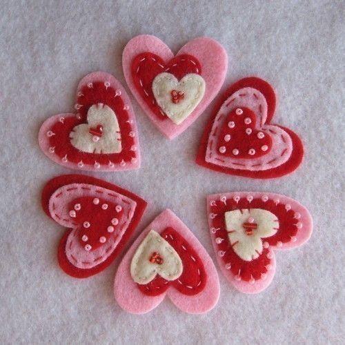 Red Cream Pink Valentine Hearts