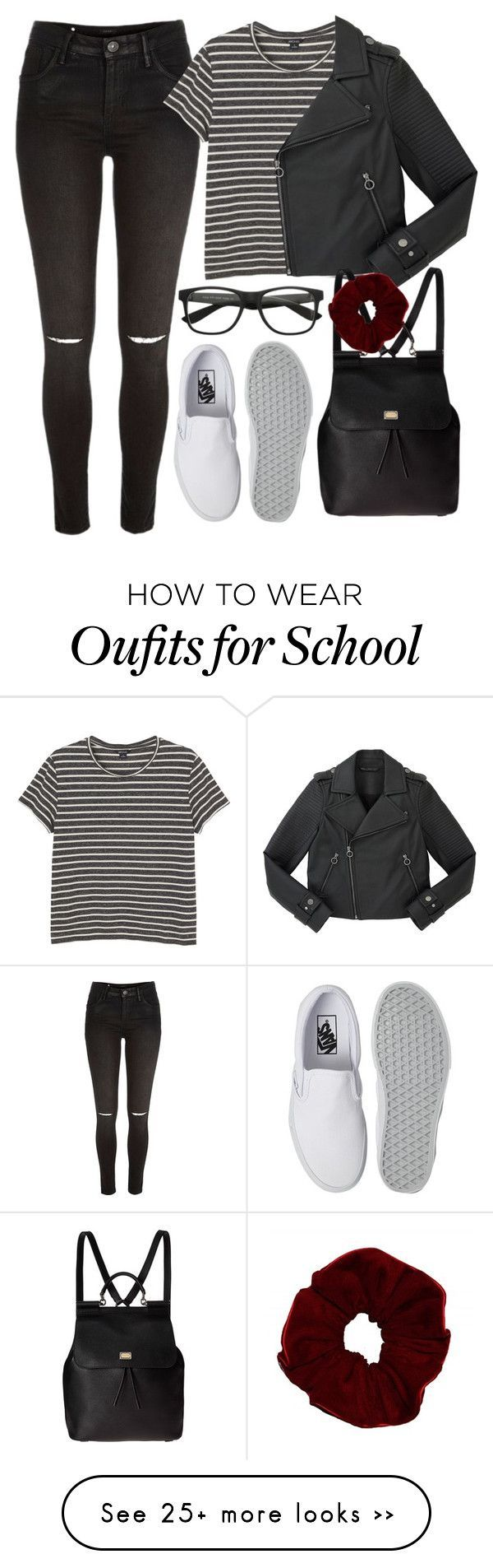 """""""Back to school outfit ♡"""" by rguelsah on Polyvore featuring River Island, Monki, Marc by Marc Jacobs, Vans and Dolce&Gabbana"""