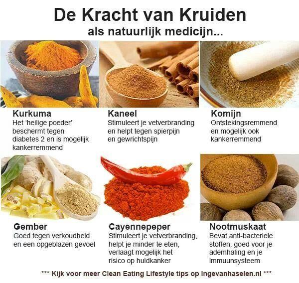 Geneeskrachtige kruiden. Bron :ingevanhaselen.nl