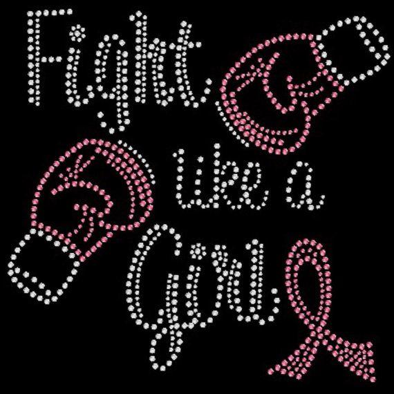 Fight Breast Cancer conscience Shirt T-Shirt. Strass T-shirt de lutte comme une fille.  Mois de sensibilisation à octobre.  Lutte contre le cancer.  Ruban rose
