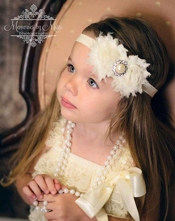 2pcs Elfenbein Romper Hochzeit Blumenmädchen von HappyBOWtique