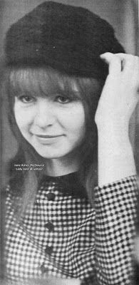 Jane Asher: 1964 at her bethroom, at her family home in 57 Wimpole Street, London.