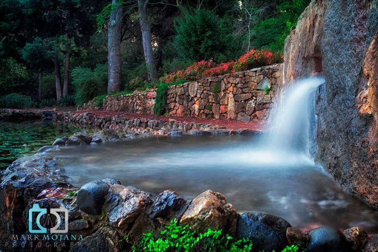 mind blowing flowing waterfalls.