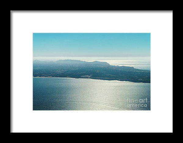 Portugal Coastline Aerial View From North Atlantic Ocean Framed Print