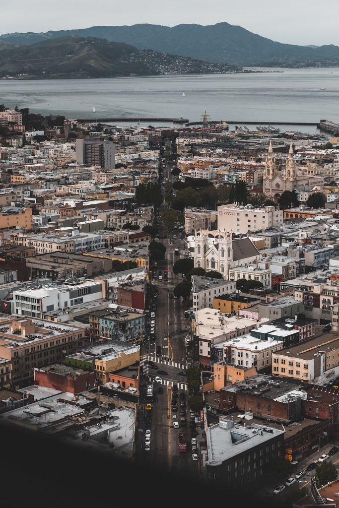 Columbus Ave from the Transamerica Pyramid