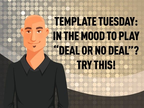 "try beat the banker, a ""deal or no deal"" style elearning game, Modern powerpoint"