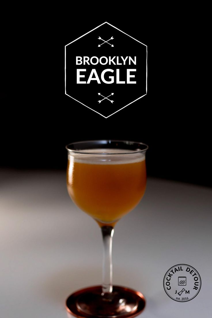 Brookly Eagle is strong, bourbon, triple sec and sweet vermouth combined with lime.