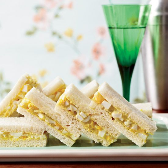 Curried-Egg Tea Sandwiches // More Tea Party Recipes: http://www.foodandwine.com/slideshows/tea-party #foodandwine