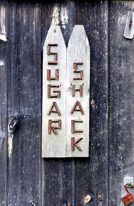 SUGAR SHACK SIGN Rustic Reclaimed Barn Board by TheRusticWoodshed