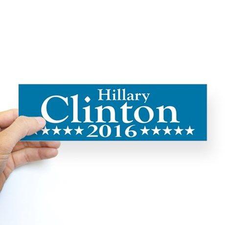 Hillary Clinton 2016 Bumper Bumper Sticker on CafePress.com