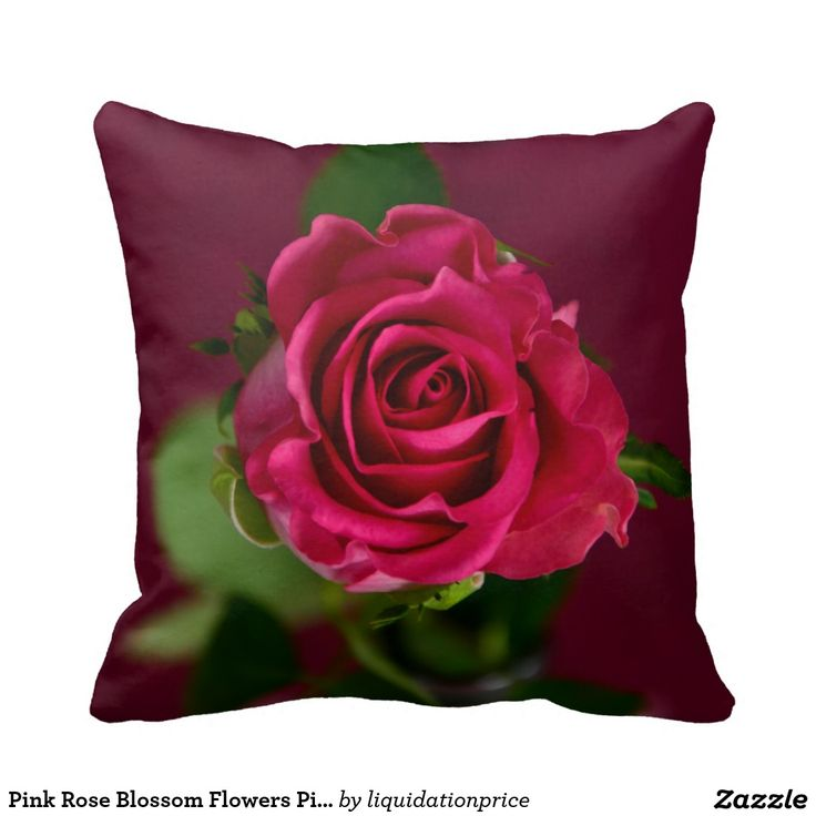 #Pink #Rose #Blossom #Flowers #Pillow