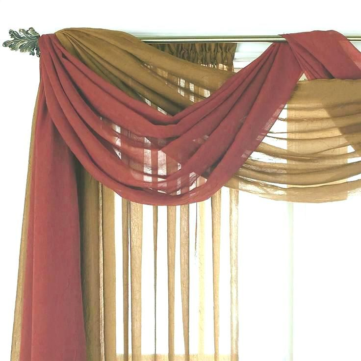 swag valances for living room swag valance curtains for ...
