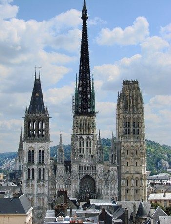 La Cathédrale Notre-Dame de Rouen, Normandie, France.