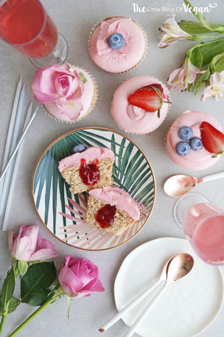Vegan mixed berry jam filled cupcakes recipe