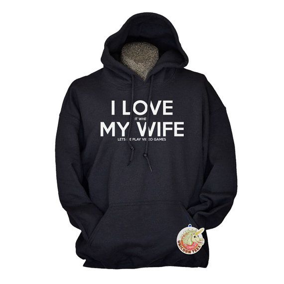 Video Game I Love My Wife Gift Hoodie Sweatshirt by UnicornTees, $29.99 - Cute Valentines Day Anniversary gift for husband: Geek Gifts, Anniversaries Gifts, Funny Hoodie, Easter Gifts, Games Gifts, Hoodie Sweatshirts, Gifts Hoodie, Games Hoodie, Christmas Gifts