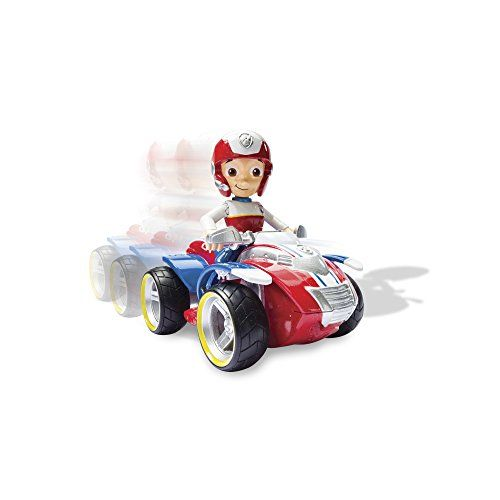 It's time to roll with Ryder on his Rescue ATV with real working wheels for push play action! Ryder's articulated arms let him remain poseable on and off of his Rescue ATV! Collect each lovable Paw Patrol character and work together as a team! Chase, Marshall, Zuma, Skye, Rocky and Rubble all have transforming vehicles! Nickelodeon, Paw Patrol – Ryder's Rescue ATV, Vehicle and Figure (works with Paw Patroller). toys4mykids.com