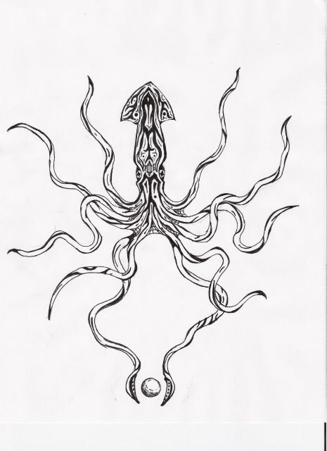squid tattoo - Google Search