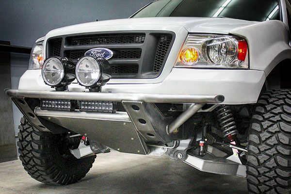 How To Build A Prerunner Part 1 Front Suspension Prerunner Maniac Truck Bumpers Lifted Ford Trucks Ford Pickup Trucks