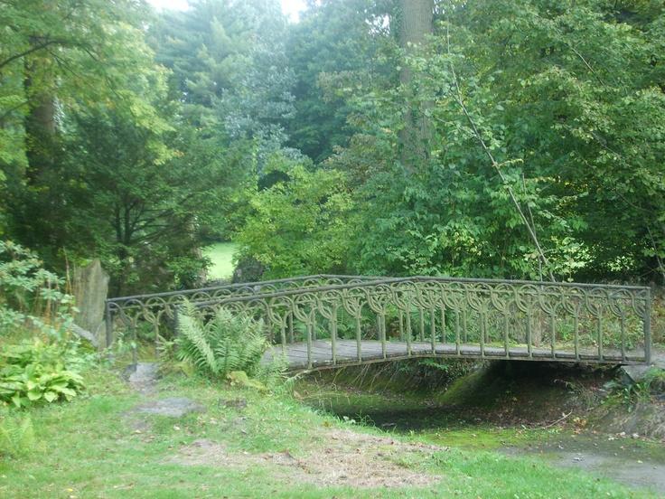 bridge in garden, Sychrov, Czech Republic