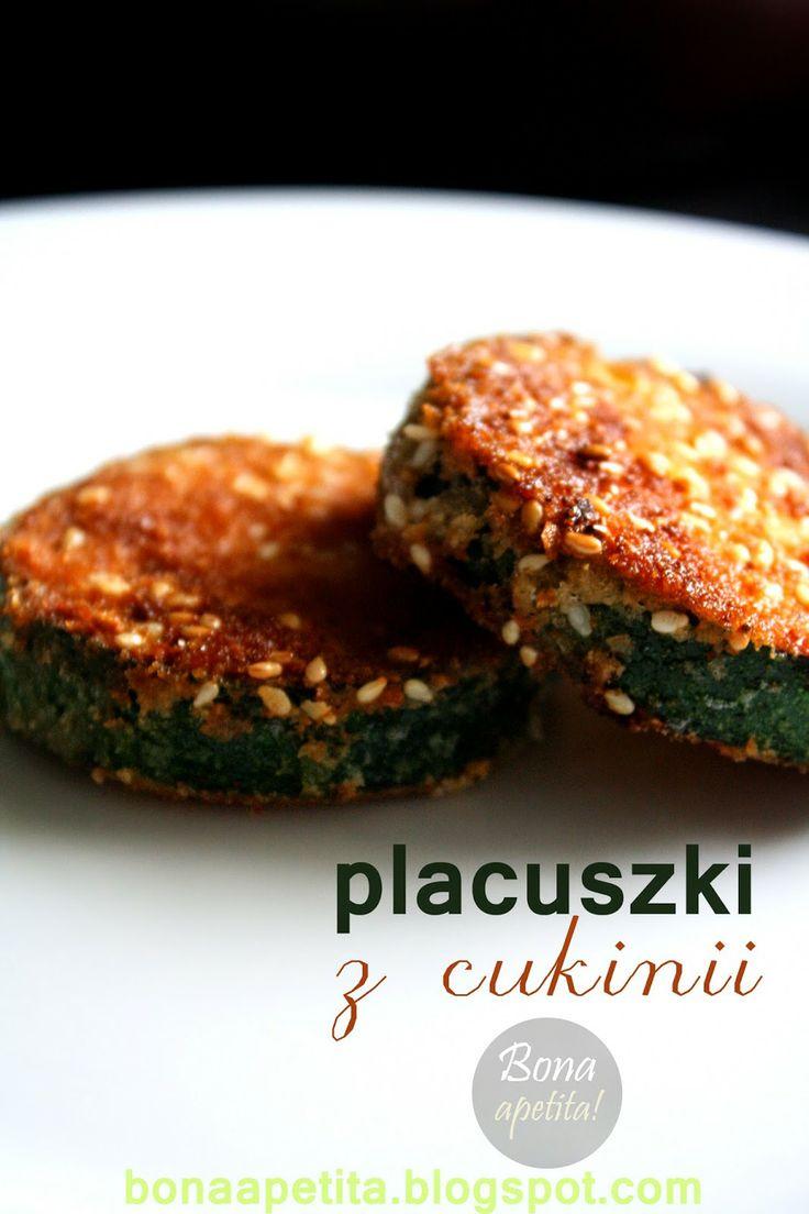 Bona Apetita! blog kulinarny, wnętrza, żyj ze smakiem!: Placuszki z cukinii - podstawa do wariacji na tema...