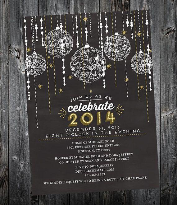 Glamerous New Years Invitation Printable | DIY | Pinterest