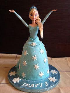 una chispa de dulzura: Tarta Elsa Frozen