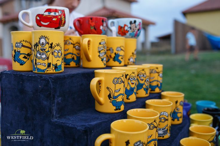 Minions cups. #westfield #minions #cups #yellow #kids #happiness