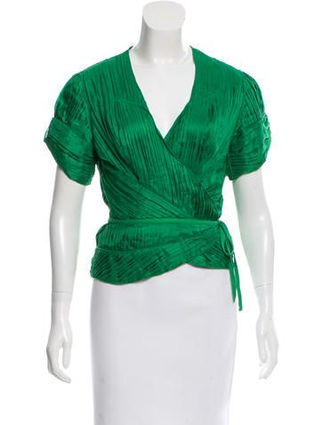 Pleated Silk Mabon Top