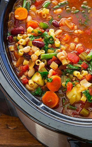 Homemade Minestrone Soup {Slow Cooker} Recipe | Little Spice Jar