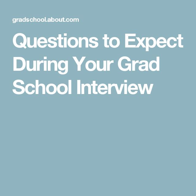 Questions to Expect During Your Grad School Interview