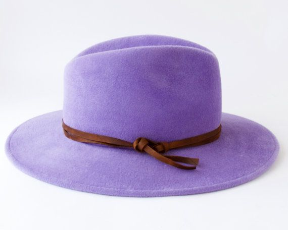 Wide Brimmed Hat Women's Fedora Hat Spring Fashion by KatarinaHats