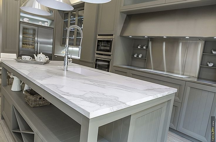 Faux Marble - Replicating the aesthetics of marble but offering unparalleled durability and resistance to wear and tear is the new Neolith Estatuario that has just hit stores in the US
