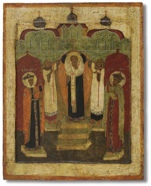 Воздвижение Креста  Около 1600 года. Обонежье