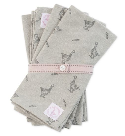 Mary Berry Four Cotton Napkins