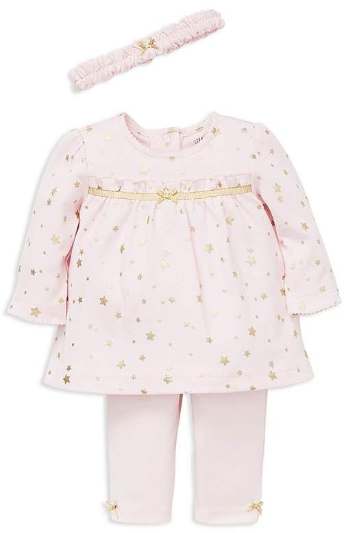 8669211d9 Little Me Girls' Metallic-Star-Print Tunic, Leggings & Headband Set - Baby  #babygirl, #littleme, #bloomingdales, #promotion