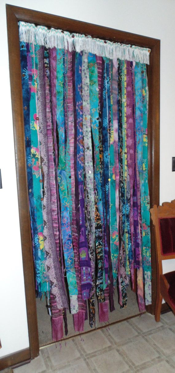 Bohemian beaded curtain door wall window by TheSleepyArmadillo, $155.00