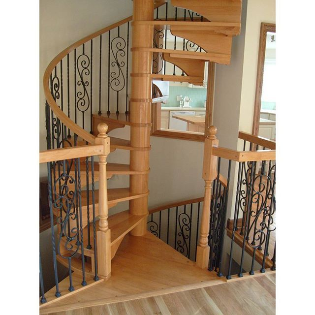 Beautiful Twist Staircase - Designer unknown - Parts available in House of Forgings #stairs #staircase #twist #spiral #interior #interiordesign #wood #iron #design #decor #inspiration #art #photography #unique #luxury #style #beautiful #love #home #diy #remodel #modern #traditional #instalike #instagram #insta #instagood #instadaily