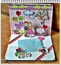 valentine popup card  large