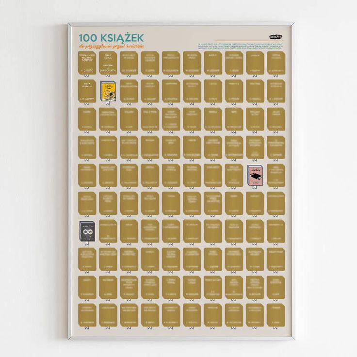 Plakat Zdrapka 100 Ksiazek Do Przeczytania Przed Smiercia Molom 100 Books To Read 100 Book Books To Read Before You Die