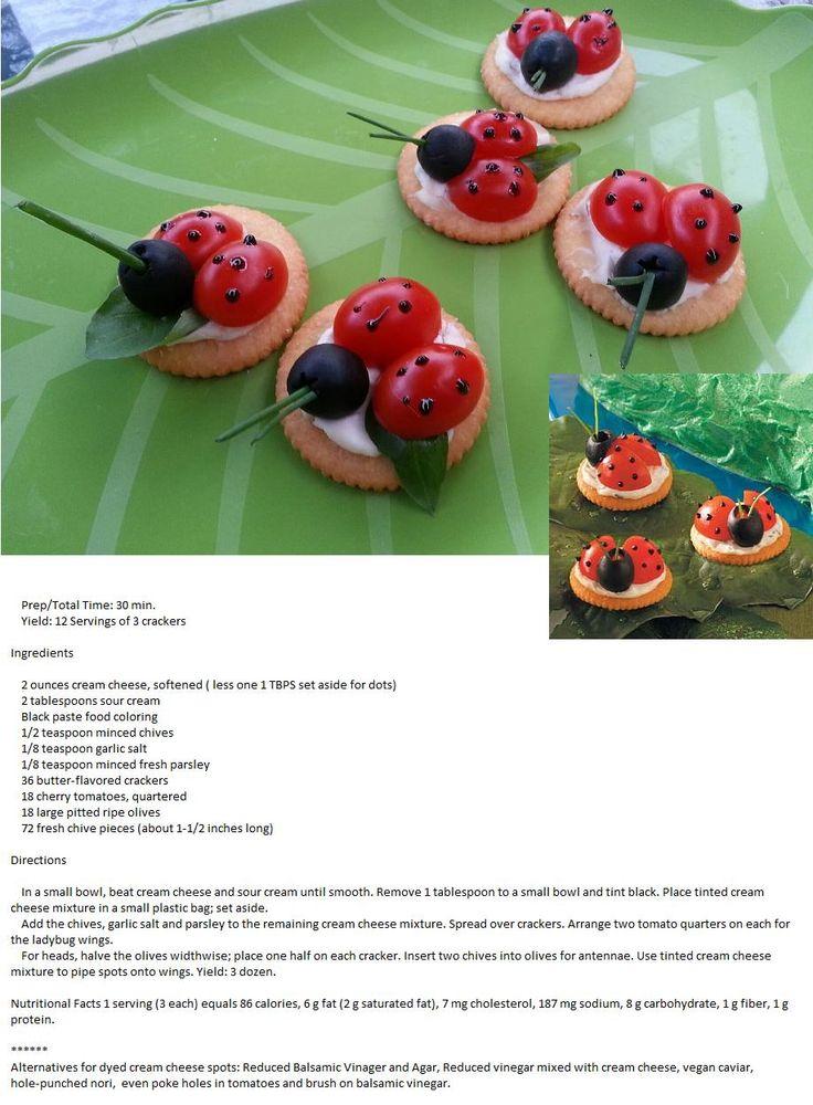 Ladybug Appetizer with recipe