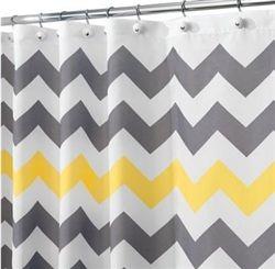 Chevron Gray Yellow Shower Curtain