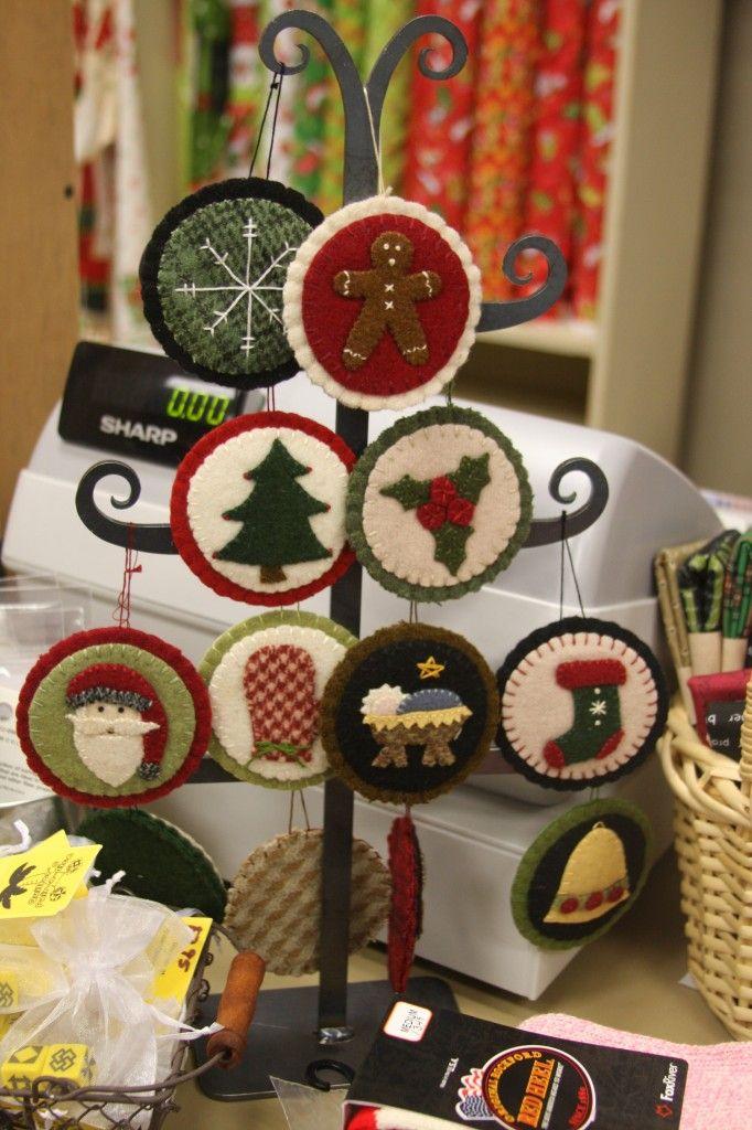 Christmas Wool Ornaments
