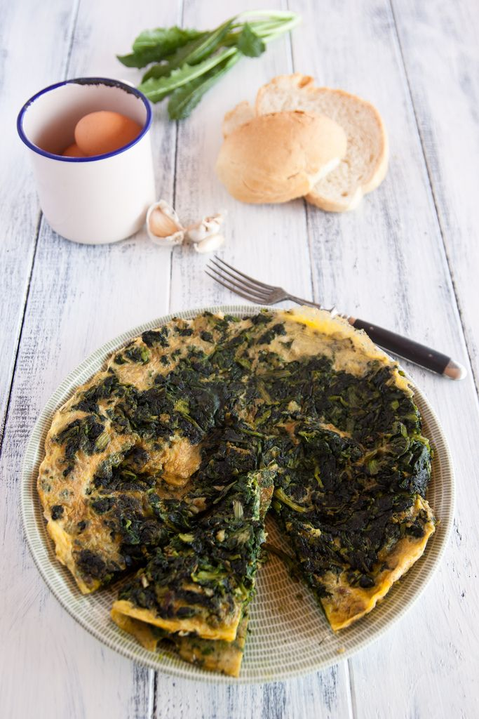 An old-fashioned morning… wild herb omelette