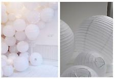 """8""""White  Paper Lantern For Wedding Party Decoration - Pack of 4 US SELLER"""