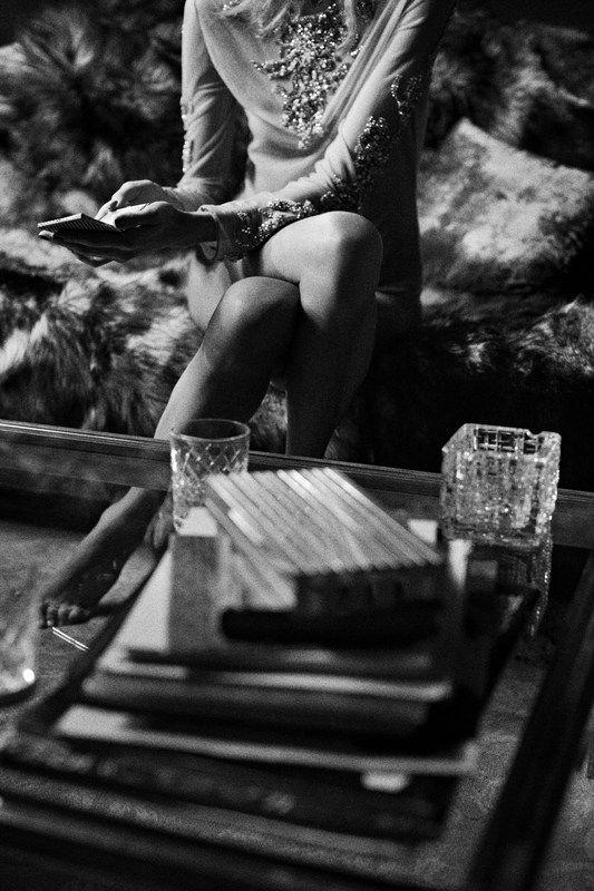 Anja Rubik by Ezra Petronio for Self Service F/W 2011, black and white photgraphy