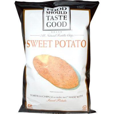 Food Should Taste Good, オールナチュラル トルティーヤチップス(All Natural Tortilla Chips), スウィートポテト, 5.5オンス (156 g)
