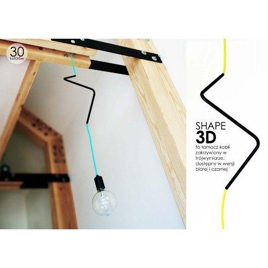 Lampa Shape #TwojeMeble #TwójDesign #TwojaLampa #SHAPE-3D-WALL #CablePower #lamp